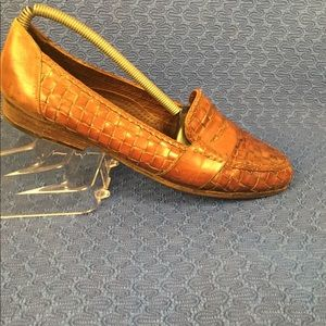 Cole Haan Loafers Woven Leather  - Size 9 M Brown